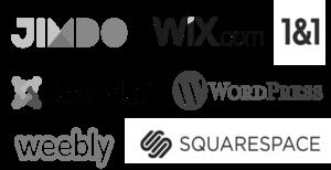 Adatto a Jimdo, Wix, Wordpress e tanti altri