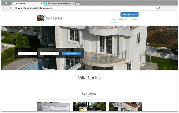 easy to build vacation rental homepage with smoobu
