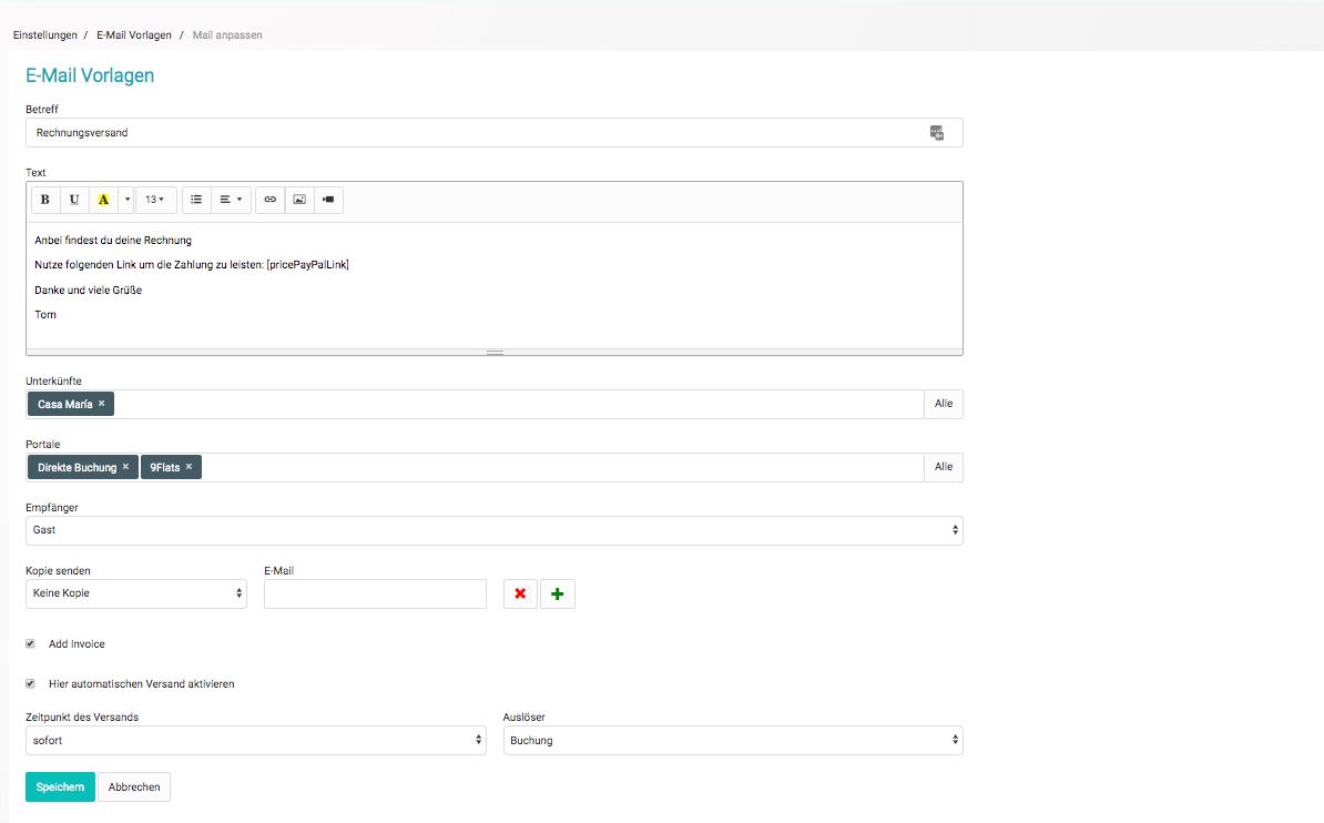 Mit Smoobu einfach Rechnungen erstellen und versenden