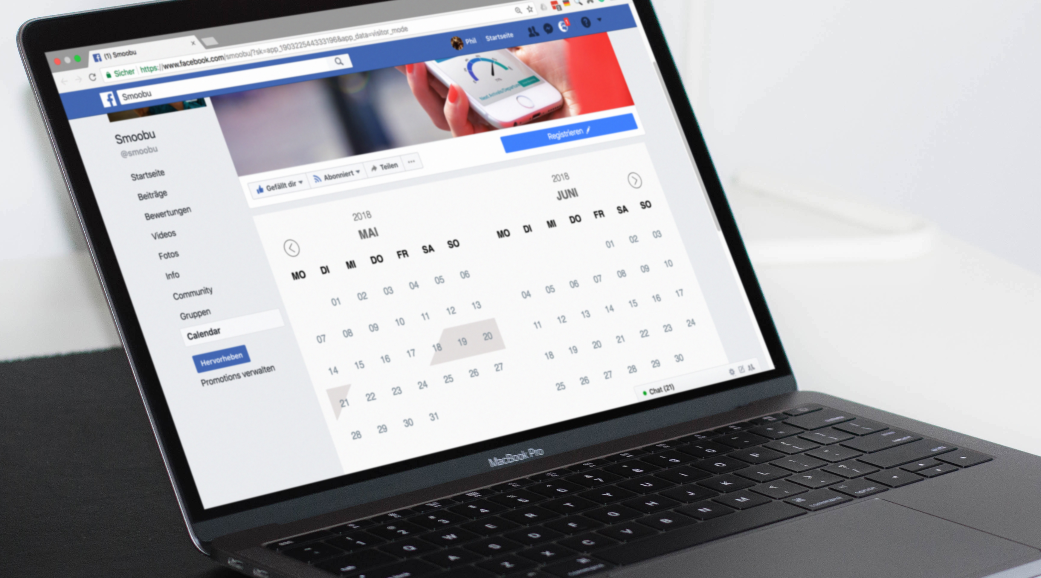 Facbook occupancy calendar, Integrate Smoobu calendar and booking tool on Facebook