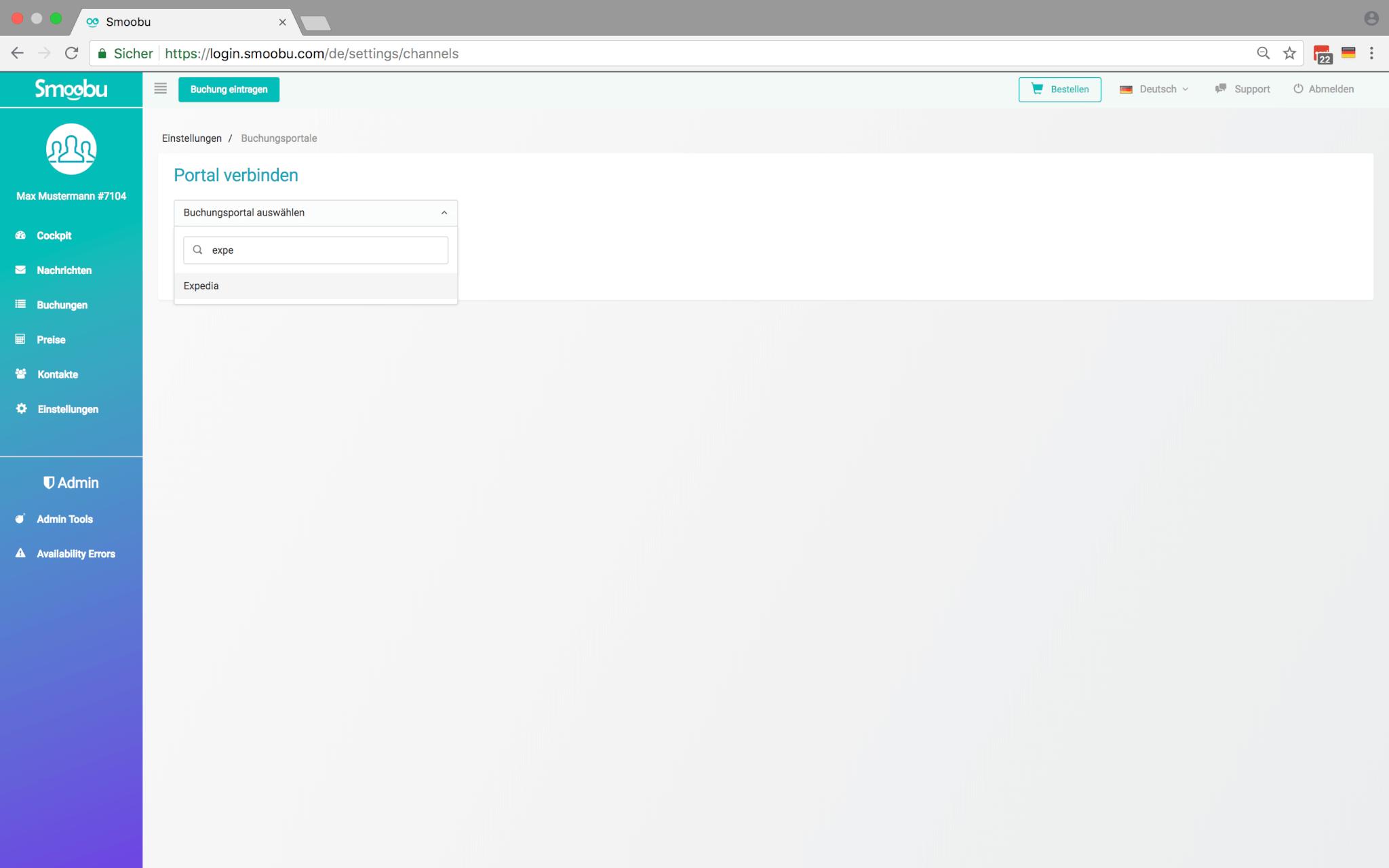 ᐅ Connecter Smoobu Channel Manager et Expedia