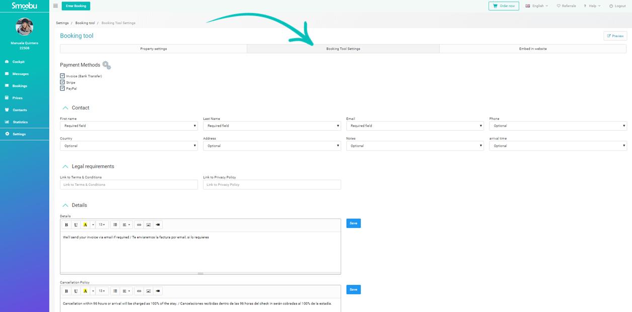 ᐅ Use the Smoobu booking engine for your Smoobu website or your external website