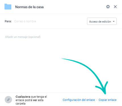 Copiar enlace Dropbox