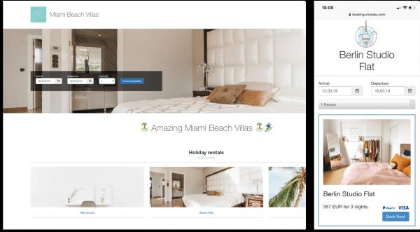software for vacation rentals website builder