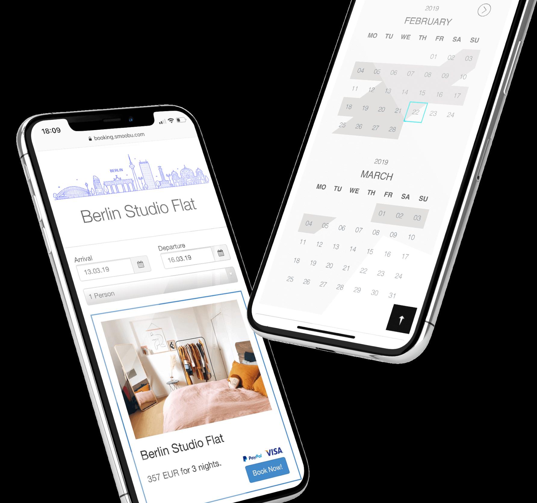 strumento di prenotazione sito web, Utilizza lo strumento di prenotazione di Smoobu per il sito web di Smoobu o per il tuo sito web esterno