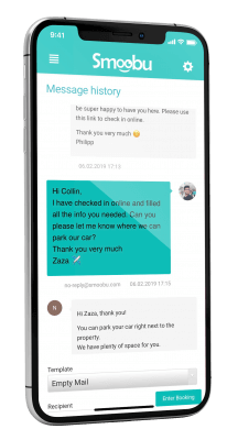 Work with one central communication platform or use the chat to interact with your guests