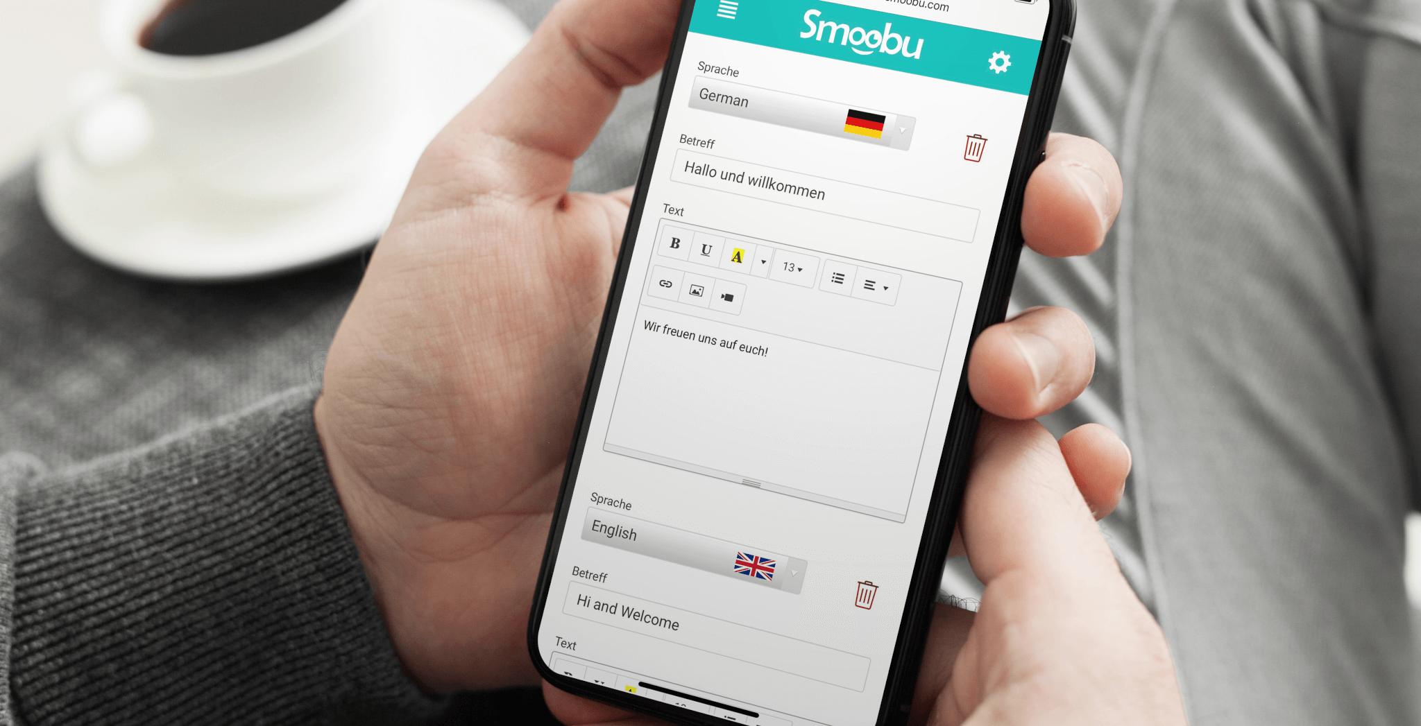 Sprachen Nachrichten Smoobu
