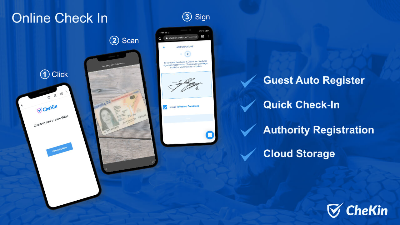 ᐅ Send guest data to authorities automatically with Chekin
