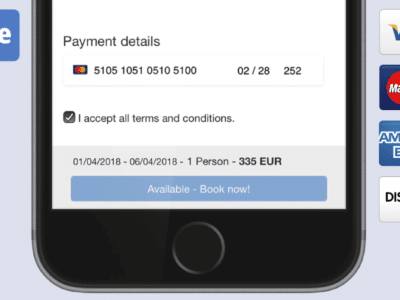 Pagamenti con carta di credito grazie all´integrazione di Stripe con Smoobu Channel Manager