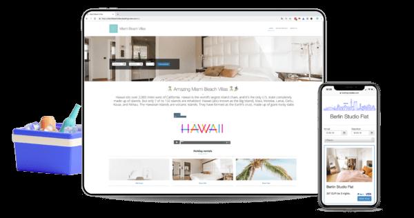 alojamientos, Software para alquiler vacacional