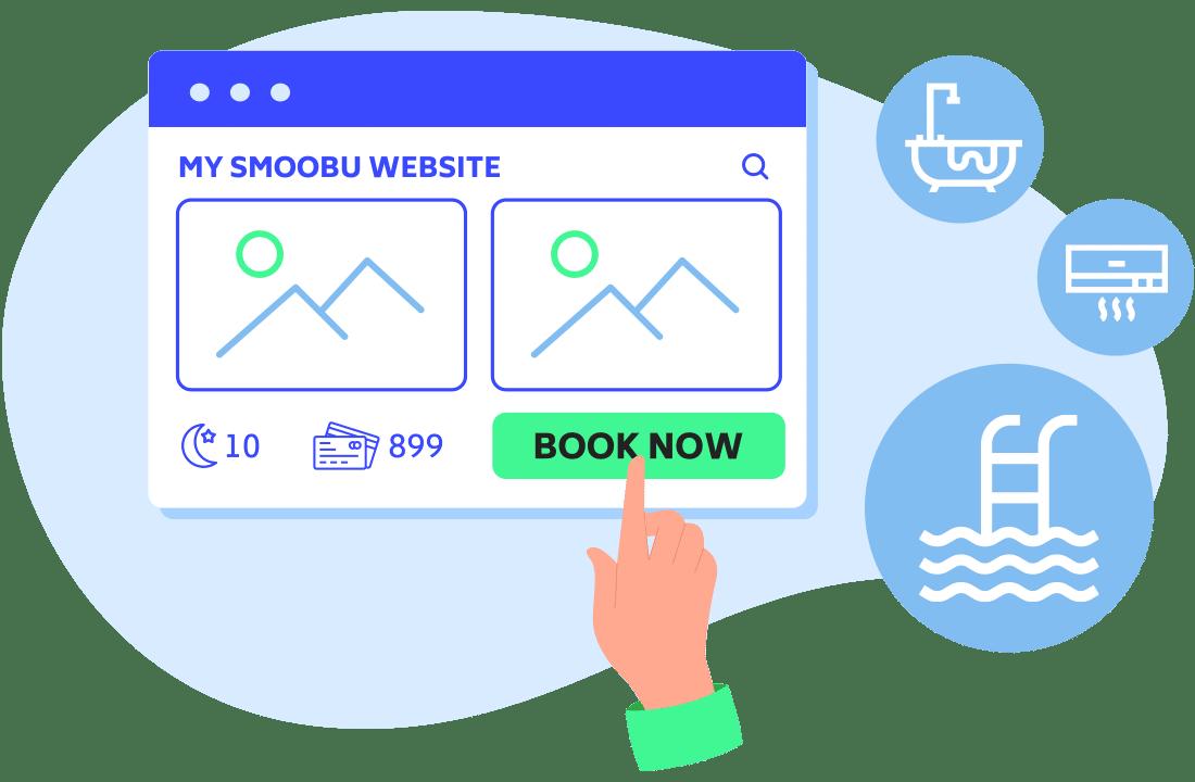 ᐅ Gratis Webseite für Vermieter Ferienunterkünften | Smoobu